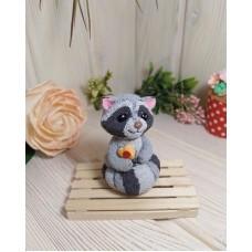 Silicone mold Little Raccoon