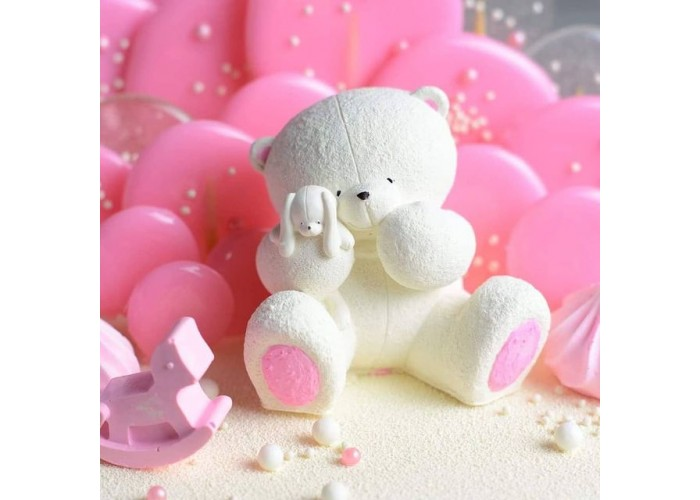 Silicone mold Bear with bunny