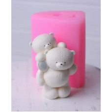Silicone mold Two bears