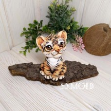 Silicone mold Tiger cub