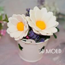 Silicone mold Chamomile 3