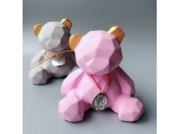 Silicone mold Bear geometric