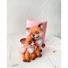 Silicone mold Chanterelle with fox