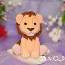 Silicone mold Lion