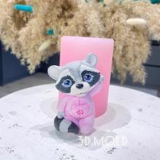 Silicone mold Raccoon
