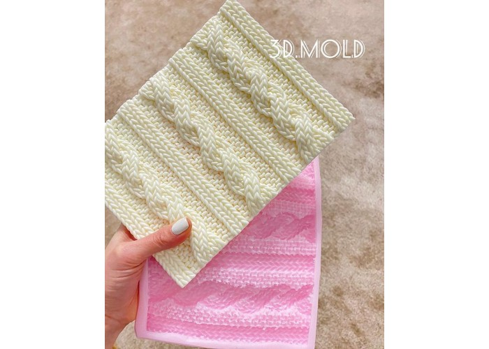 Silicone mold Imitation knitting rug