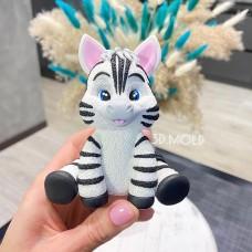 Silicone mold Zebra kid