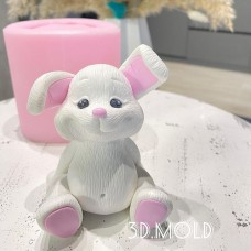 Silicone mold Bunny sits