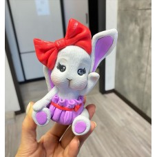 Silicone mold Bunny with a bow