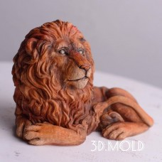 Silicone mold Lion lies