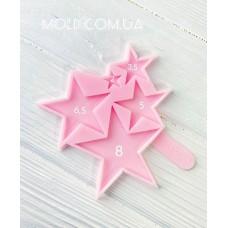 Silicone mold Star lollipops