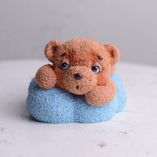 Silicone mold Bear on the cloud