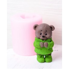 Silicone mold Bear in sweater