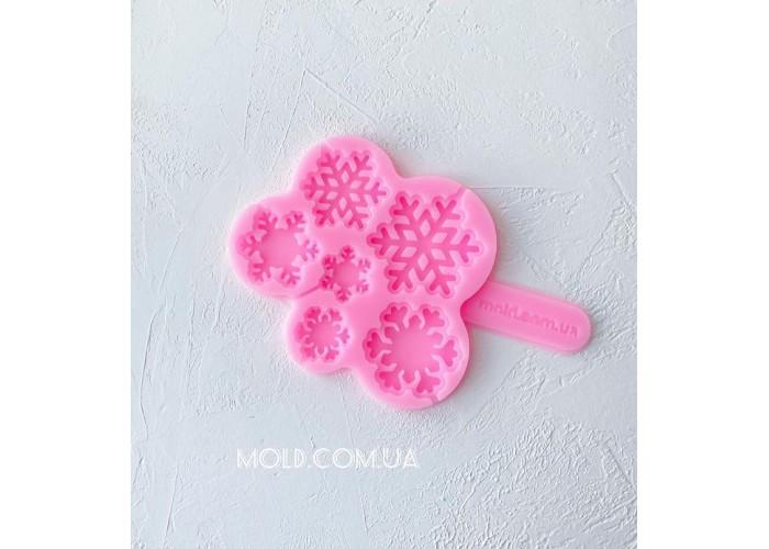 Silicone mold Snowflake lollipops