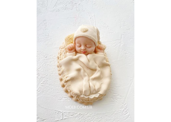 Silicone mold Baby in the crib