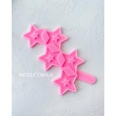 Silicone mold Star lollipops 2