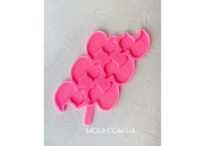 Silicone mold Duck Lollipops