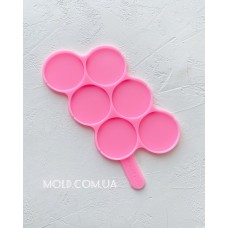 Silicone mold Round lollipops 2