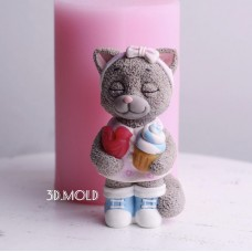Silicone mold Kitty