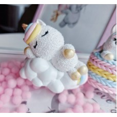 Silicone mold Unicorn on a cloud