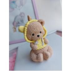 Silicone mold Teddy bear in a unicorn costume