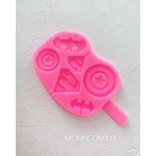 Silicone mold Superhero emblems