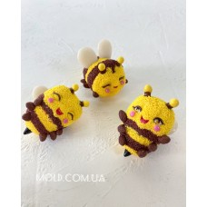 Silicone mold Three bees