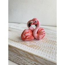 Silicone mold flamingo couple