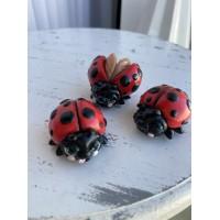 Silicone mold Ladybugs three