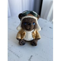 Silicone mold Teddy bear pilot