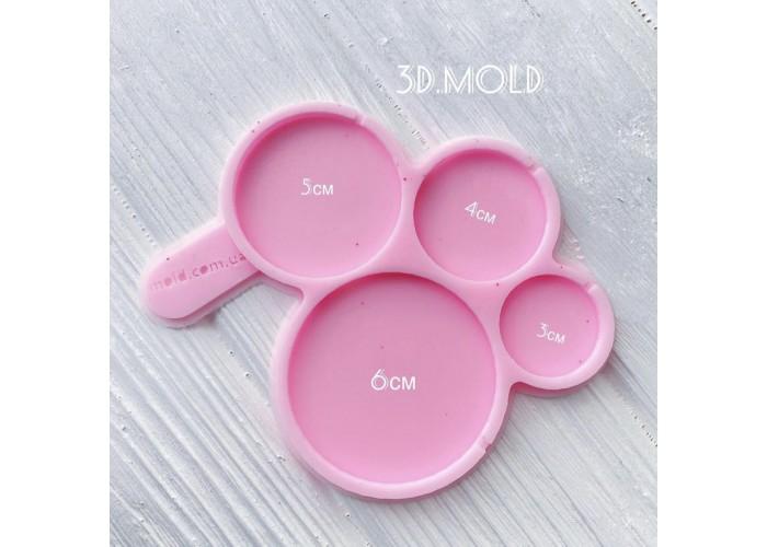 Silicone mold Round lollipops