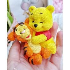 Silicone mold Winnie and Tigger