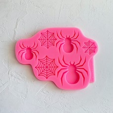 Silicone mold Spider and web