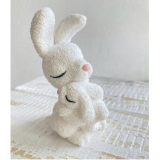 Silicone mold Bunny mom with baby