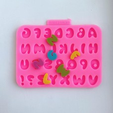 Silicone mold English alphabet