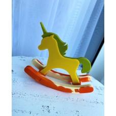 Silicone mold Swing unicorn 2d